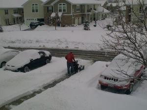 Snow Clearing outside the apartment in Columbus