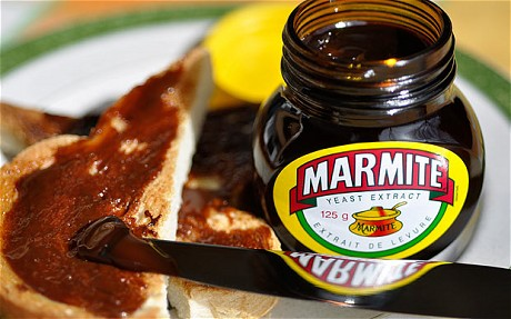 Marmite for my toast. Yummy.