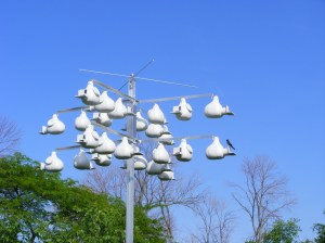 MAN MADE HOTEL FOR PURPLE MARTINS