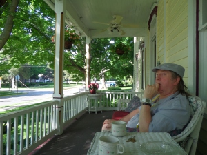 MONDAY MORNING COFFEE ON THE PORCH